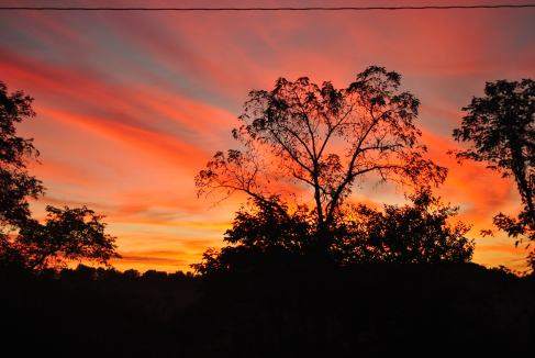 Sunrise from the porch swing