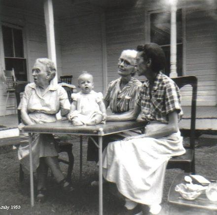 Grandmas Carrell Douglass and Waterman and Susie